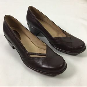 Clarks Artisan Womens Leather Classic Shoes Size 9
